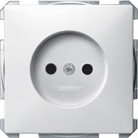 2000-4019 Merten розетка 1-ая б/з с защитными шторками (белый)