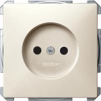 2000-4044 Merten розетка 1-ая б/з с защитными шторками (бежевый)