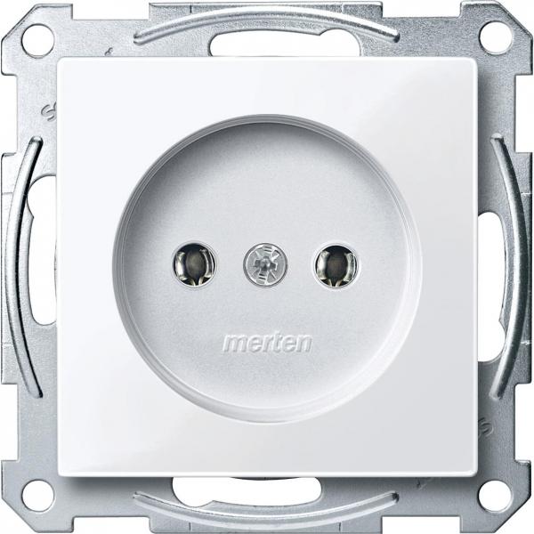 2001-0325 Merten механизм розетки без заземл.контакта (белый актив)