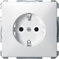 2300-4019 Merten розетка 1-ая с/з с защитными шторками (белый)