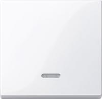 Merten Проходной одноклавишный выключатель с подсветкой (активный белый)  System M