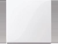 Merten Выключатель одноклавишный (активный белый) System M