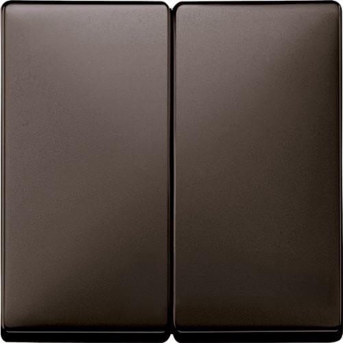 Merten Выключатель двухклавишный (коричневый)  System Design
