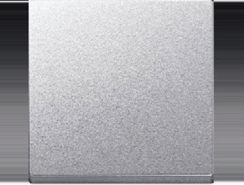 Merten Переключатель одноклавишный (вкл/выкл с 2-х мест)  (алюминий) System M