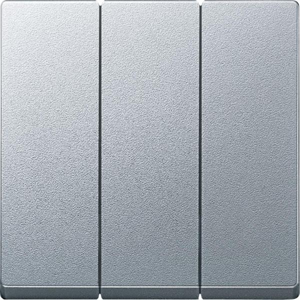 Merten Трехклавишный выключатель (алюминий)  System M