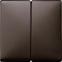 Merten Переключатель двухклавишный (коричневый)  System Design