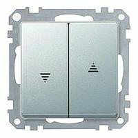 Merten Механизм управления жалюзи 2-х клавишный 10 А / 250 (алюминий) System M