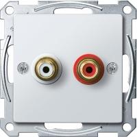 4350-0319 Merten механизм аудиорозетки (белый)