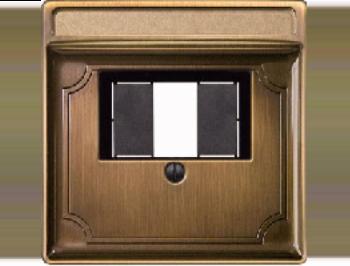 Merten Зарядное устройство USB с двумя выходами (античная латунь) System Design