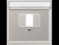 Merten Зарядное устройство USB с двумя выходами (стальной) System Design