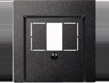 Merten Зарядное устройство USB с двумя выходами (антрацит) System M