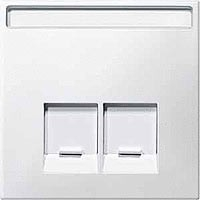 Merten Розетка телефонная двойная RJ11 (полярно-белый) System Design