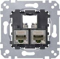 4575-0012 Merten розетка телекоммун 2xrj45 cat5e stp