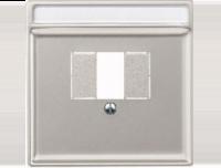 Merten Розетка для динамиков один канал с вставкой антрацит (стальной) System Design