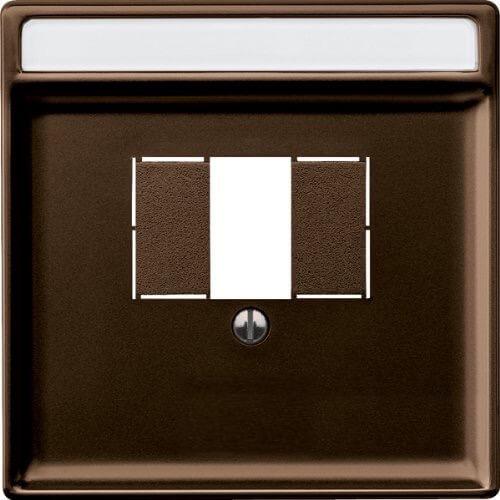 Merten Розетка для динамиков один канал с вставкой антрацит (коричневый) System Design