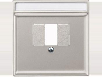 Merten Розетка для динамиков один канал с белой вставкой (стальной) System Design