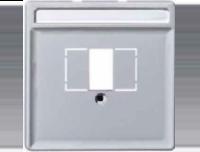 Merten Розетка для динамиков один канал с белой вставкой (алюминий) System Design
