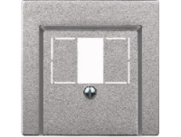 Merten Розетка для динамиков один канал (алюминий) System M