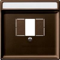 Merten Розетка для динамиков один канал с белой вставкой (коричневый) System Design