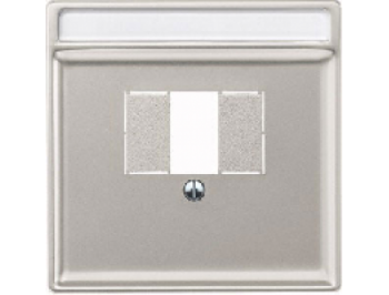 Merten Розетка для динамиков два канала  с вставкой антрацит (стальной) System Design