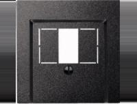 Merten Розетка для динамиков два канала с белой  (антрацит) System M
