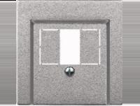 Merten Розетка для динамиков два канала с белой  (алюминий) System M