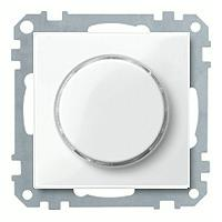 Merten Светорегулятор поворотно-нажимной 40-600 Вт. для ламп накаливания и галогеновых (полярно белый) System M