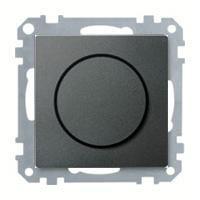 Merten Светорегулятор поворотно-нажимной 40-1000 Вт. для ламп накаливания и галогеновых (антрацит) System M