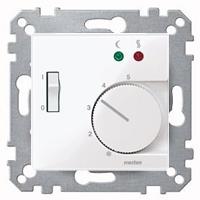 Merten Терморегулятор теплого пола с датчиком пола 10А и выключателем (активный белый) System M
