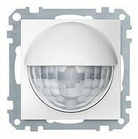Merten Датчик движения, 25-300Вт, двухпроводное подключение, высота монтажа 2,2м, (полярно белый) System M