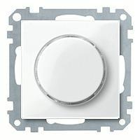 Merten Светорегулятор клавишный универсальный 25-1000 Вт. для ламп накаливания и низковольтн.галог.ламп (полярно белый) System M