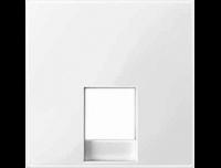 Merten Розетка телефонная одинарная RJ11 (полярно белый) System M