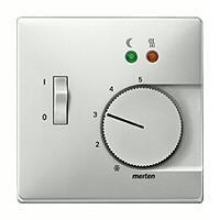 Merten Терморегулятор теплого пола с датчиком пола 10А (стальной) System Design