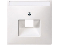 291819 Merten накладка розетки тлф/комп 1-ой наклонной (полярно белый)