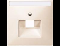291844 Merten накладка розетки тлф/комп 1-ой наклонной (бежевый)