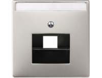 291846 Merten накладка розетки тлф/комп 1-ой наклонной (сталь)
