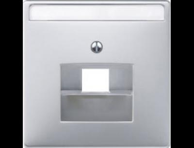 291860 Merten накладка розетки тлф/комп 1-ой наклонной (алюминий)