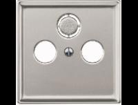 294146 Merten накладка розетки tv-fm,tv-fm-sat (сталь)