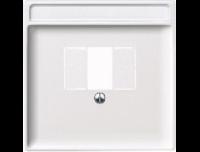 297819 Merten накладка аудиорозетки 2-ой (мех 46701х) (полярно белый)