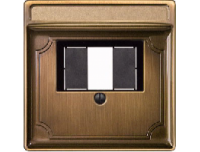 297843 Merten накладка аудиорозетки 2-ой мtn46701 (античная латунь)