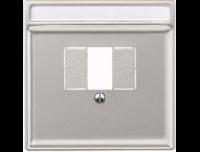 297846 Merten накладка для tae-розетки, моно-/стерео аудио розетки (сталь)