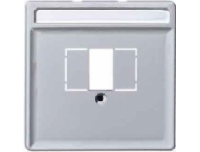 297860 Merten накладка аудиорозетки 2-ой (мех м46701х) (алюминий)