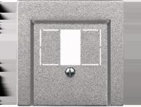 297960 Merten накладка аудиорозетки 2-ой (мех м46701х) (алюминий)
