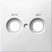 299619 Merten накладка розетки r/tv-sat с маркировкой (полярно белый)