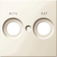 299844 Merten цент. плата с маркировкой r/tv и sat (активно белый)