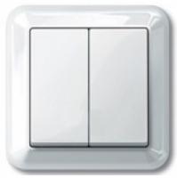 3115-1219 Merten выключатель 2-кл. (в сборе) (белый)