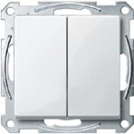 3115-1319 Merten выключатель 2-кл. (в сборе,без рамки) (белый)