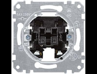 3153-0000 Merten выключатель 2-клавишный кнопочный с самовозвратом 1но/1нз, 10а