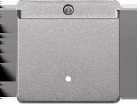 315460 Merten накладка выключателя карточного (алюминий)