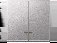 3420-0460 Merten клавиша 2-ая с/п (алюминий)